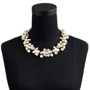 Exquisite J Crew Crystal Cluster Stone Necklace